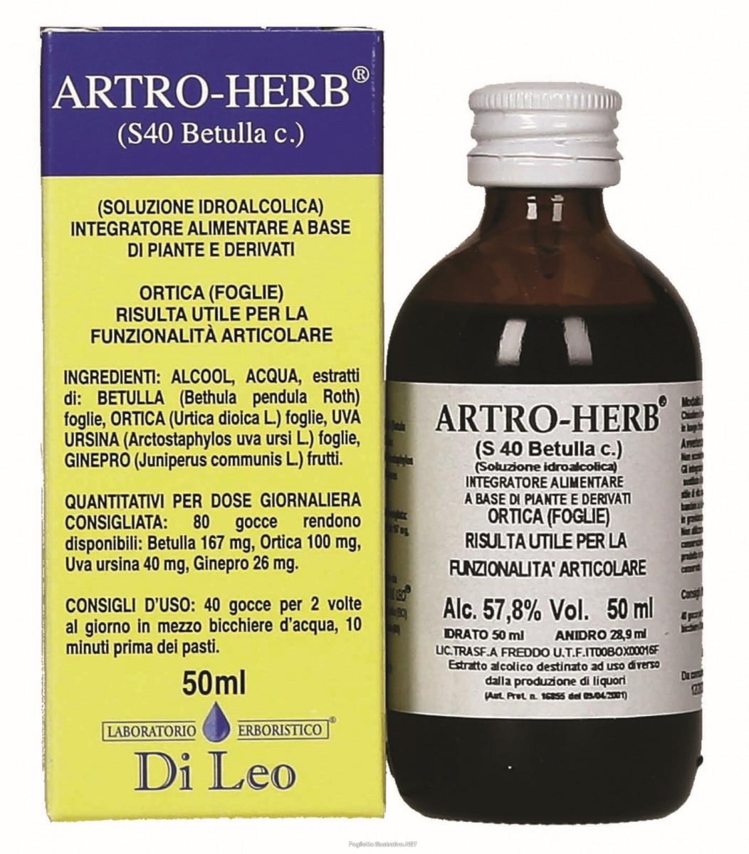 LABORATORIO ERBORISTICO DI LEO Artro Herb S 40 Betulla 50ml